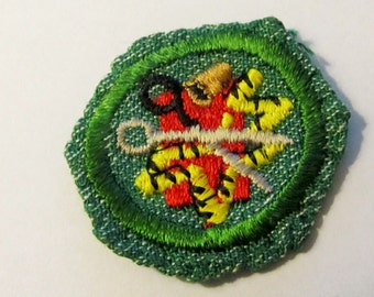 "Vintage Girl Scout Badge ""Sewing"" circa late 1940's"