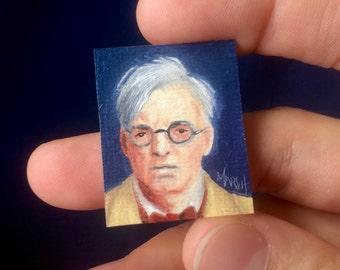 Mini WB Yeats Portrait Painting