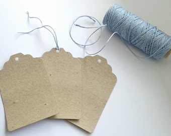 ECO natural paper labels / tags /  kraft paper TAGS /  vintage labels / gift tags / tag