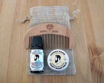 Merry Band Beard Kit | Bold & Crisp Beard Oil | Comb | Balm