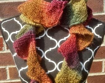 Spiral knit scarf Etsy