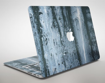 Abstract Wet Paint Soft Blue - Apple MacBook Air or Pro Skin Decal Kit (All Versions Available)