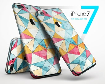 Triangular Geometric Pattern - Skin Kit for the iPhone 7 or 7 Plus, 6 or 6s Plus, 5/5s/SE, 5c & More
