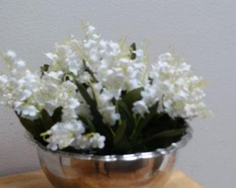 Vintage SP Primrose Plate Centrepiece Flower Bowl with Cage Flower Frame