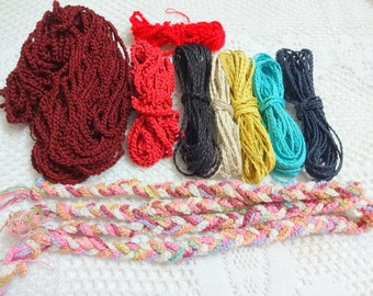 Braided Cotton Cord,Crochet Chain,Crochet Ribbon,Necklace Cord - Gift Wrapping Packaging String Jewelry Cotton Cord - Assorted