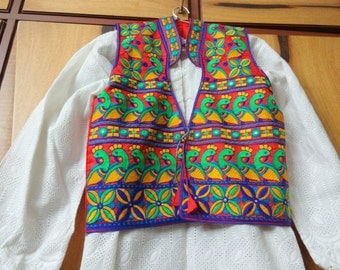 Kutch Embroidered Jackets - Ethnic Indian Jackets - Red Green