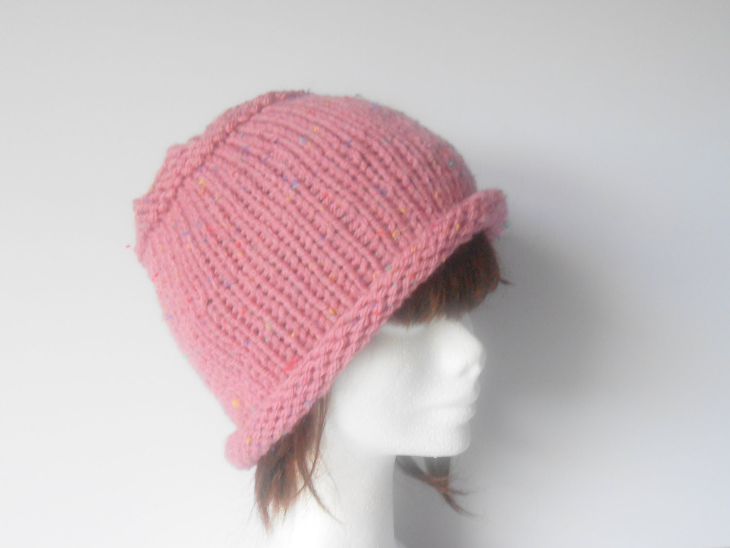 s winter hat knitted womens hat roll up brim hat