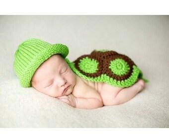 Newborn Turtle Outfit Newborn Crochet Turtle Outfit Baby Boy Crochet Newborn photo outfit baby turtle outfit newborn baby boy outfit
