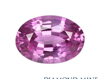 A Beautiful NaturalSapphire 1.09 Pink Oval Extra