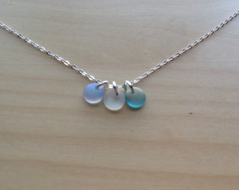 Delicate Sea Glass Necklace