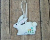 Felt Spring Bunny Rabbit Ornament, Easter Decoration, Bunny Rabbit Ornament, Easter Bunny Ornament