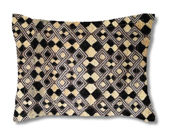 Exclusive Kuba Cloth Design #3 / Standard Size Pillow Sham 30x20 / Soft Brushed Polyester Fabric / Stylish Unique African Art Pattern