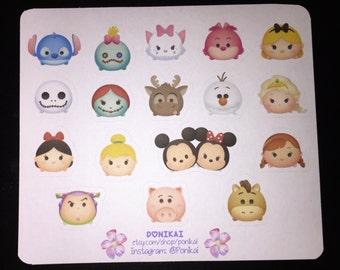 Tsum Tsum Characters Sticker Sheet (Style 2)