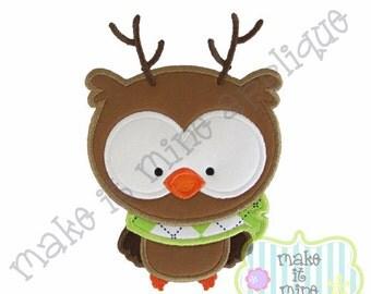 Applique Reindeer Owl Machine Applique Design