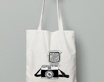 Say Cheese! Vintage Camera Tote Bag (Limited Edition)