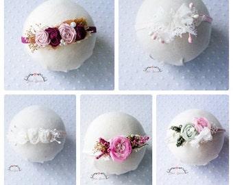 Natural headband 5 Piece Set - Headband Set, Newborn Photography prop, toddler photography prop, photography headband