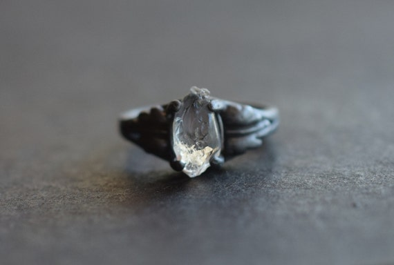 RESERVED Raw Diamond Engagement Ring Rough Natural Uncut