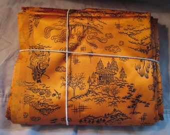 Asian Fabric Orange