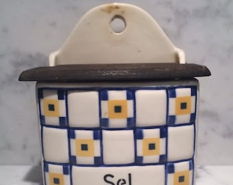 French Ceramic Sel Box
