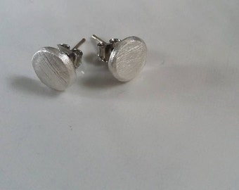 Handmade silver earrings.