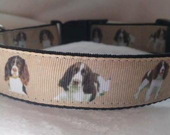 Handmade Dog Collar-Matching Lead Available (Springer Spaniel)