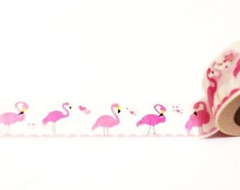Flamingo Washi Tape, Washi Tape, Flamingos, Planner Washi Tape, Planner Tape, Scrapbook Supplies, Summer Washi,