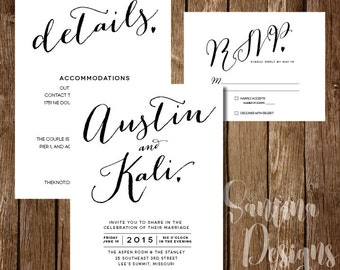 Print-at-home Simple Wedding Invitations