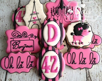 Paris Parisien Birthday Cookies