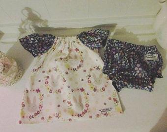 Baby Girls short sleeve Peasant Dress