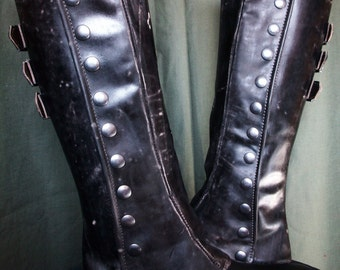 real leather gaiters (pair)