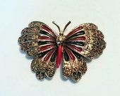 ART Butterfly Brooch, Vintage 1950's pin