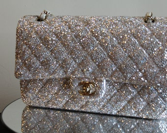 Chanel Bag Strass Service featuring Swarovski Crystal, Chanel Handbag, Chanel, Strass Service, Shoe Strass Service, Unique Custom Chanel Bag