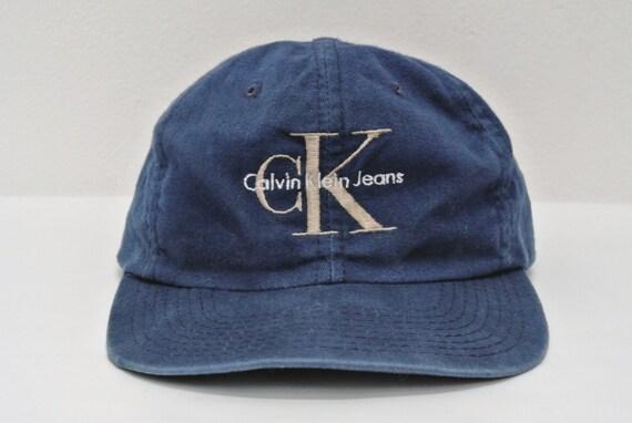 calvin klein jeans hat vintage ck jeans baseball cap classic. Black Bedroom Furniture Sets. Home Design Ideas
