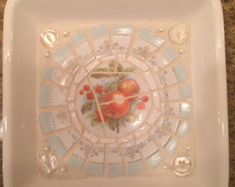 Adorable little mosaic tray