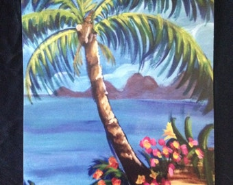 Island palm tree print