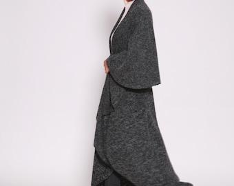 Wool Cape Jacket, Black Cape Coat , Black Wool Coat, Womens Cloak,  Winter Clothing