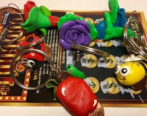 Bumble Bee, Lady Bug and Flowers Scratch Ticket Scratchers.