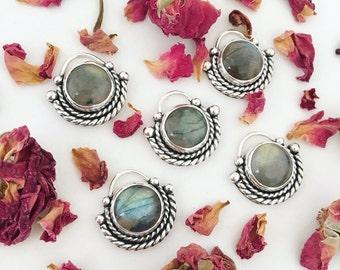 Labradorite Orb Necklace | Sterling Silver