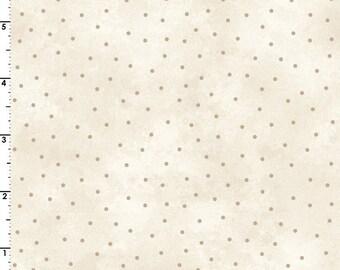 Beautiful Basics- Cream and Tan Dot, Fabric by the Yard