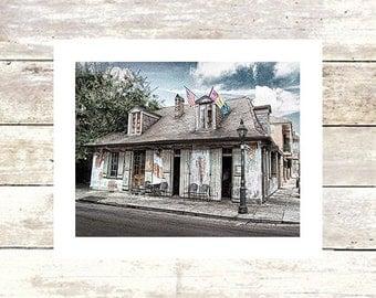 New Orleans Art  LAFITTE'S BLACKSMITH SHOPPE  Purple Drink  French Quarter  Bar  New Orleans