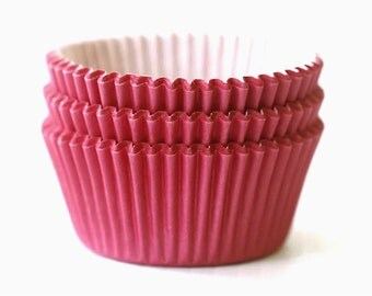 Solid Raspberry Red Cupcake Liners