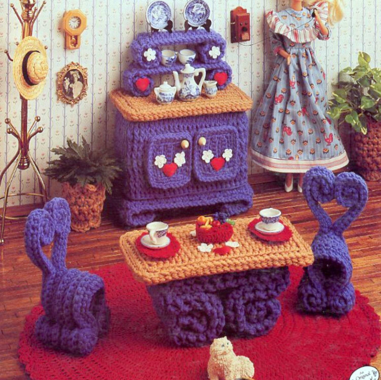 Vintage Crochet Pattern Pdf Fashion Doll Home Decor House
