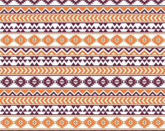 Maroon, white and orange tribal pattern craft  vinyl sheet - HTV or Adhesive Vinyl -  Aztec Peruvian pattern HTV938