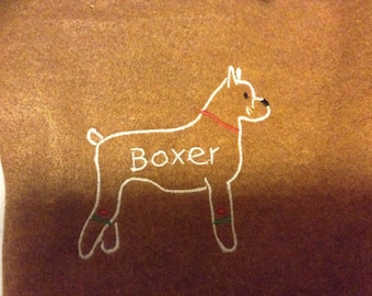 Boxer Personalized Felt Gingerbread or Angel Ornament