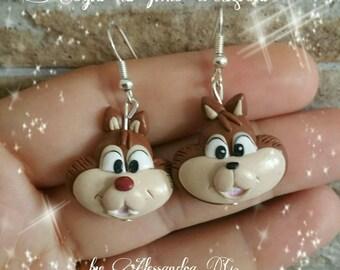 Chip and Dale fimo earrings disney cip e ciop orecchini clay