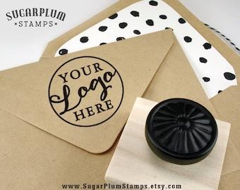 Custom rubber logo stamp with keepsake handle, business card logo stamper, custom logo rubber stamp, diy business card stamp, custom gift