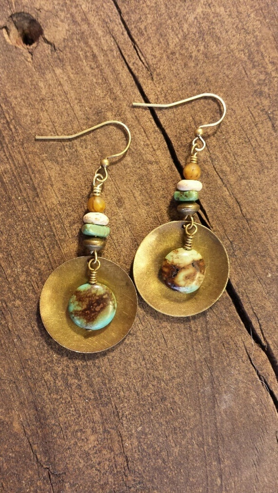 boho earrings metal earrings bronze by hattieoliviadesigns