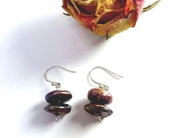 freshwater pearl dangle earrings