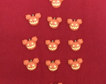 Set of 10 Mickey Halloween Pumpkin Jack O Lantern Resin
