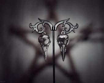 Ravencraft Raven Skull Earrings